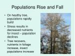 populations rise and fall