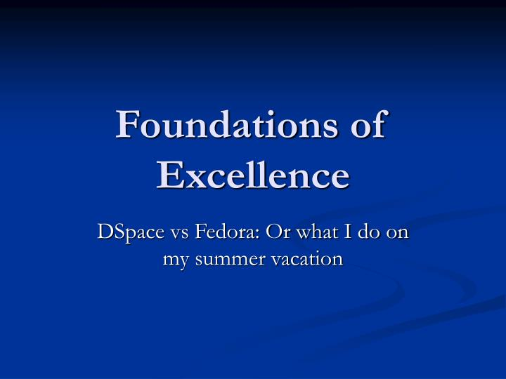 foundations of excellence n.