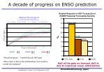 a decade of progress on enso prediction