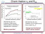 charm hadron v 2 and r aa