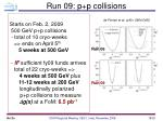 run 09 p p collisions