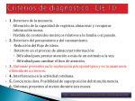 criterios de diagn stico cie 10