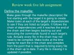 review week five lab assignment11