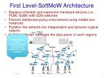first level softmow architecture