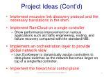 project ideas cont d