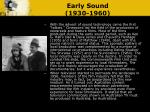 early sound 1930 1960