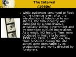 the interval 1960s