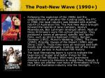 the post new wave 1990