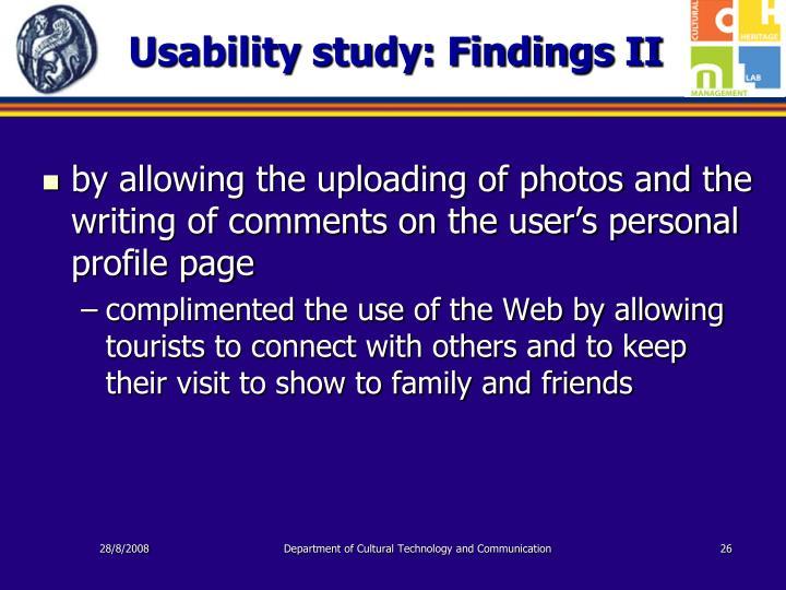 Usability study: Findings II
