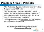 problem areas prc 005