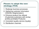 phases to adopt the new strategy tcs