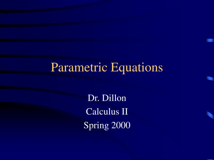 parametric equations n.