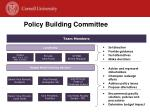 policy building committee