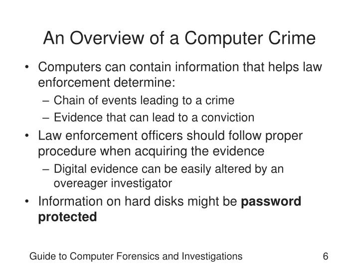 An Overview of a Computer Crime