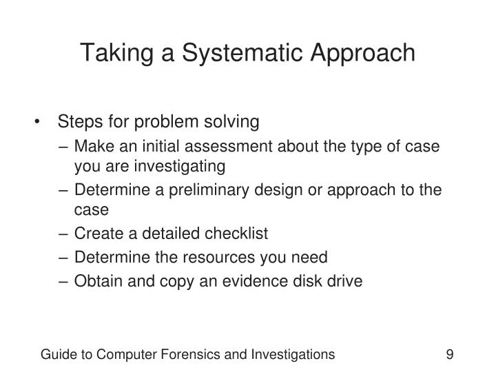 Taking a Systematic Approach