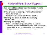 nonlocal refs static scoping