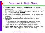 technique 1 static chains