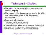 technique 2 displays