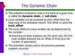 the dynamic chain