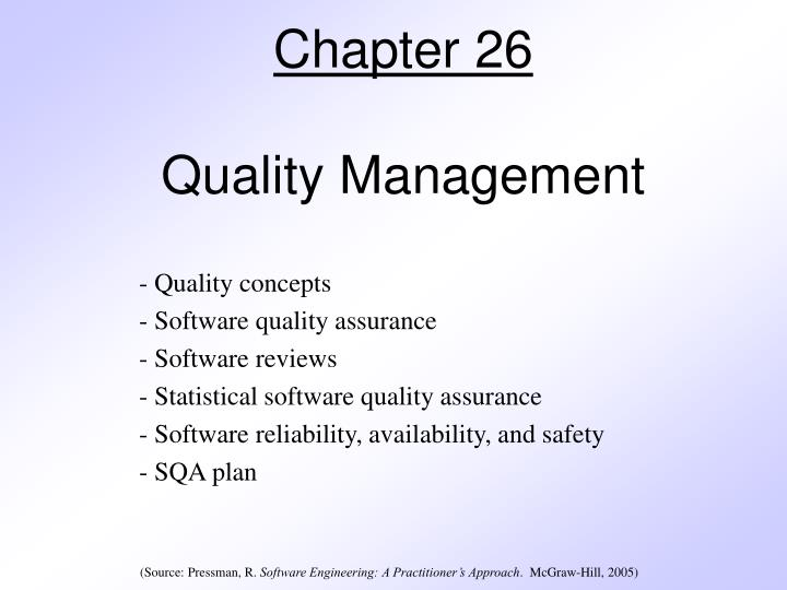 chapter 26 quality management n.