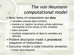 the von neumann computational model