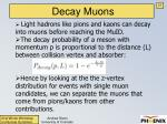 decay muons