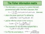 the fisher information matrix