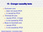 15 granger causality tests