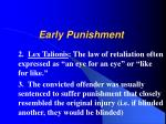 early punishment1