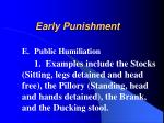 early punishment12