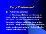 early punishment13