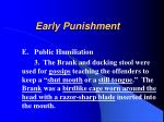 early punishment18