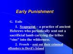 early punishment24