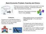 basic economic problem scarcity and choice