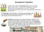 development population