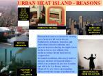 urban heat island reasons