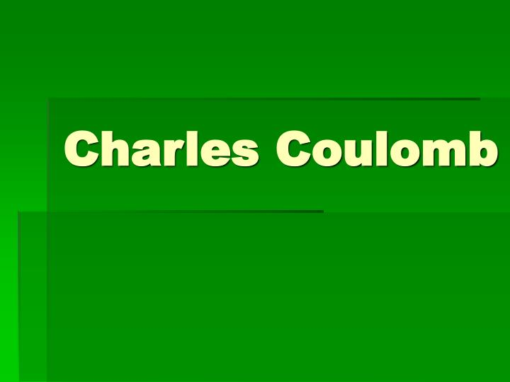 charles coulomb n.