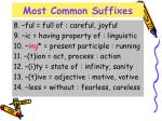 most common suffixes1