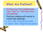 what are prefixes