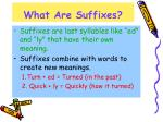 what are suffixes