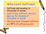 why learn suffixes