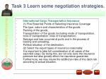 task 3 learn some negotiation strategies