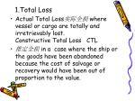1 total loss