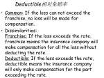deductible