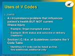 uses of v codes1