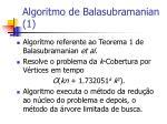 algoritmo de balasubramanian 1