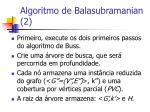 algoritmo de balasubramanian 2