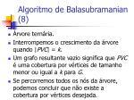 algoritmo de balasubramanian 8