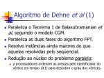 algoritmo de dehne et al 1