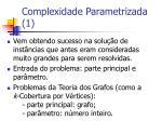 complexidade parametrizada 1